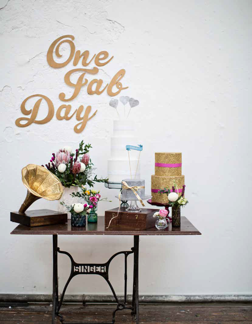 One Fab Day presents The Glitter Studio Wedding Fair - glitter cakes