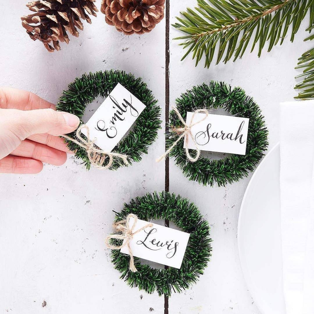 Love love LOVE these little mini wreath place settings fromhellip