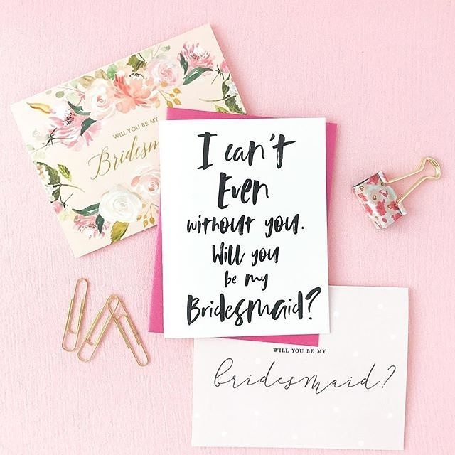 Cute stationery and bridesmaidsWhat more could a gal want?! hellip
